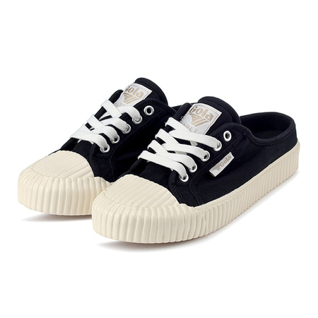 Cadet Mule Black/Off White_CLB071BW